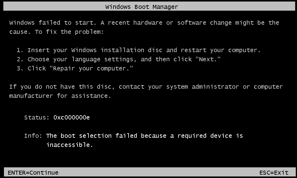 The Windows 7 / 8 BCD (Boot Configuration Data) Store and