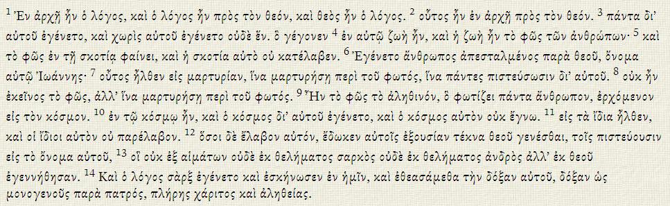 Polytonic Greek Accents - SBL Greek Font